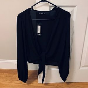Nasty Gal Front Tie Blouse - NEVER WORN